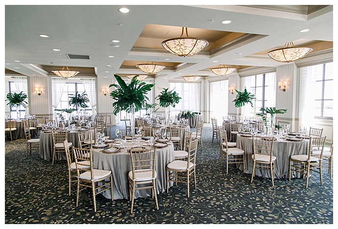 tall tropical centerpieces