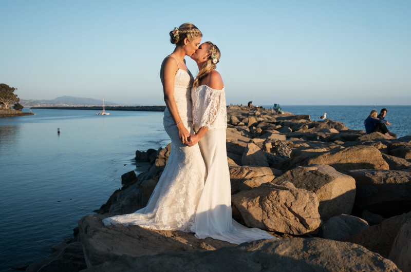 Image for Allison and Sara's Southern California Beach Wedding