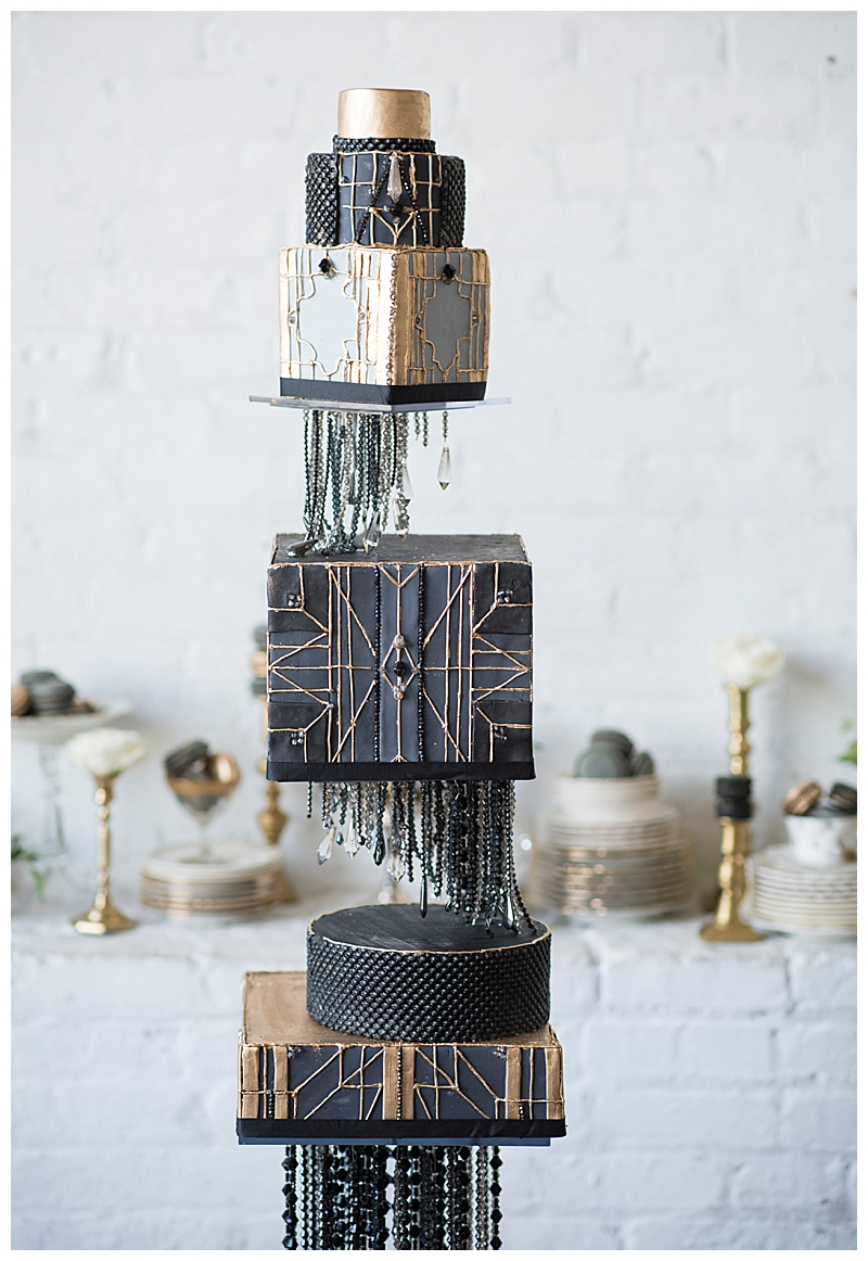 Art Deco Tiered Wedding Cake