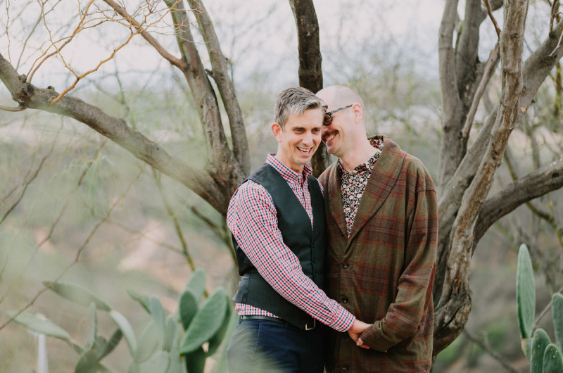 Image for A Cute Engagement Session Amongst Cacti
