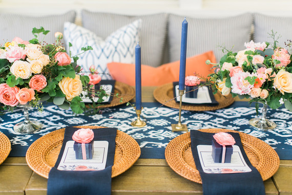 Coral and Navy Wedding Color Palette