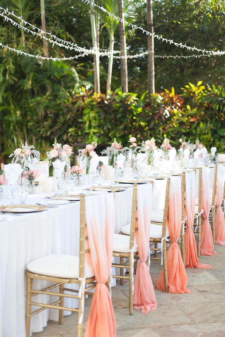 Coral Chair Linens