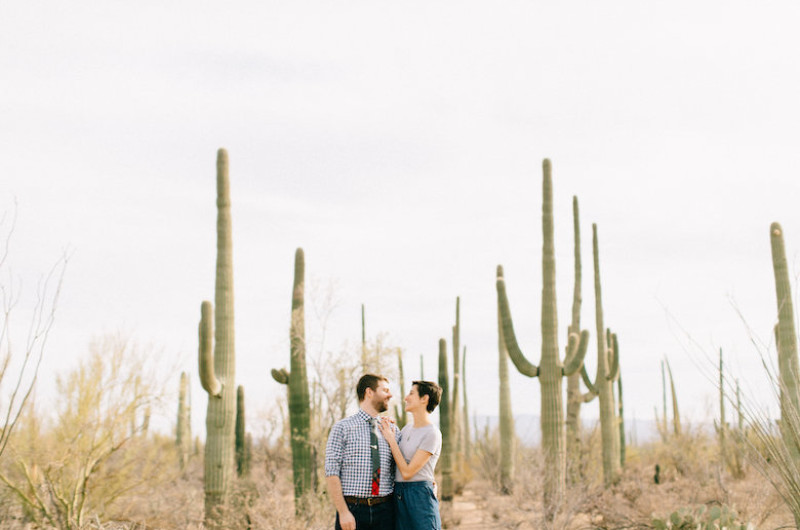 Image for Arizona Cacti Park Engagement Session in the Desert