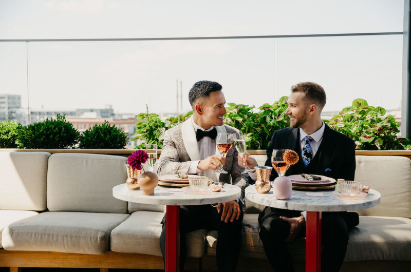 Image for A Rooftop Wedding Inspiration Shoot at the Journeyman Hotel