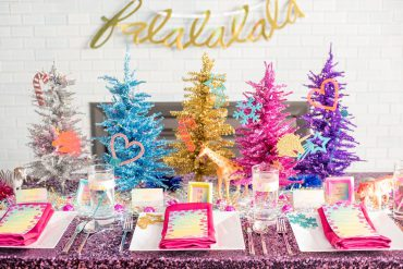 lisa frank inspired christmas party