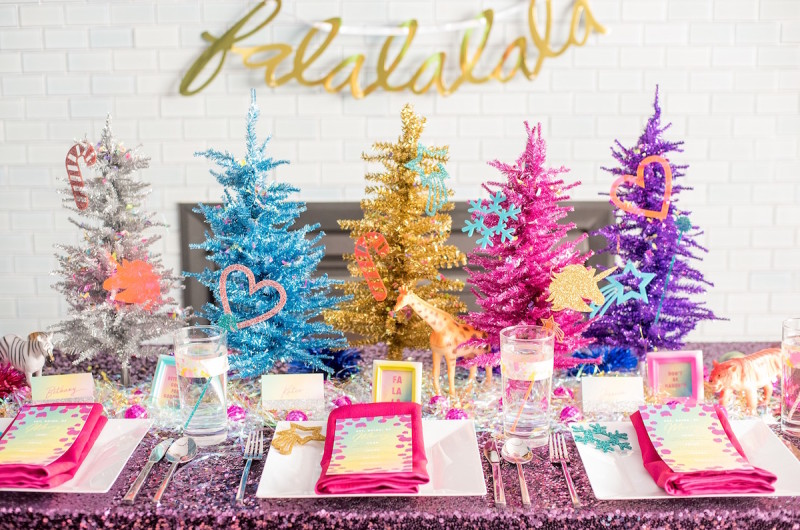 Image for A Vibrant and Colorful Lisa Frank-Inspired Holiday Styled Shoot
