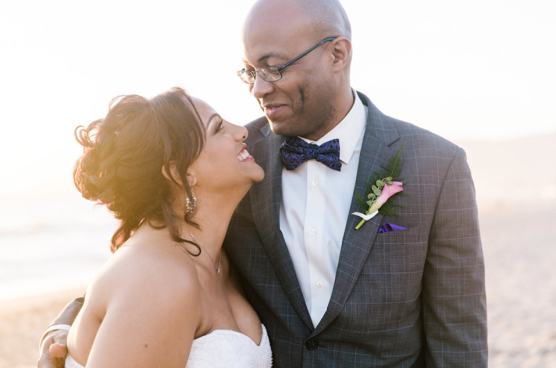Image for Erica and David's Pink Beachfront Wedding in Malibu