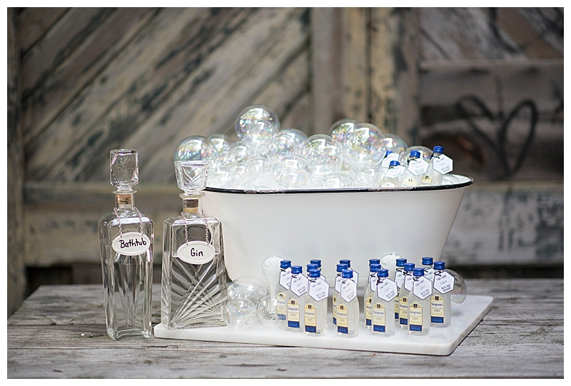 Gin Wedding Favors Station