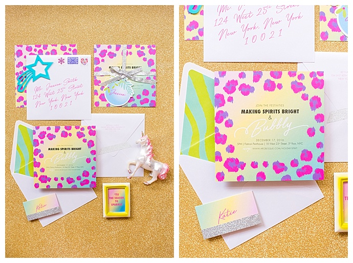 lisa frank inspired stationery