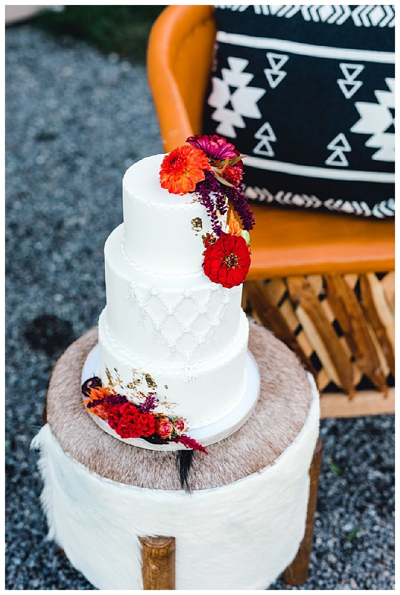 Macrame Design Wedding Cake