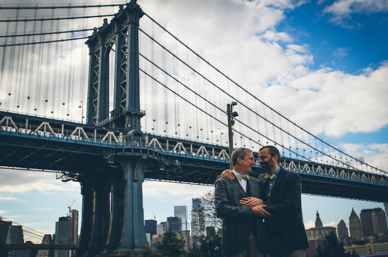 Image for A Dapper Engagement Session Underneath the Manhattan Bridge