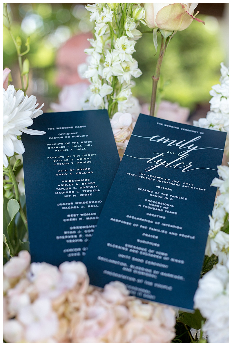 Navy and White Minted Wedding Invitation Suite