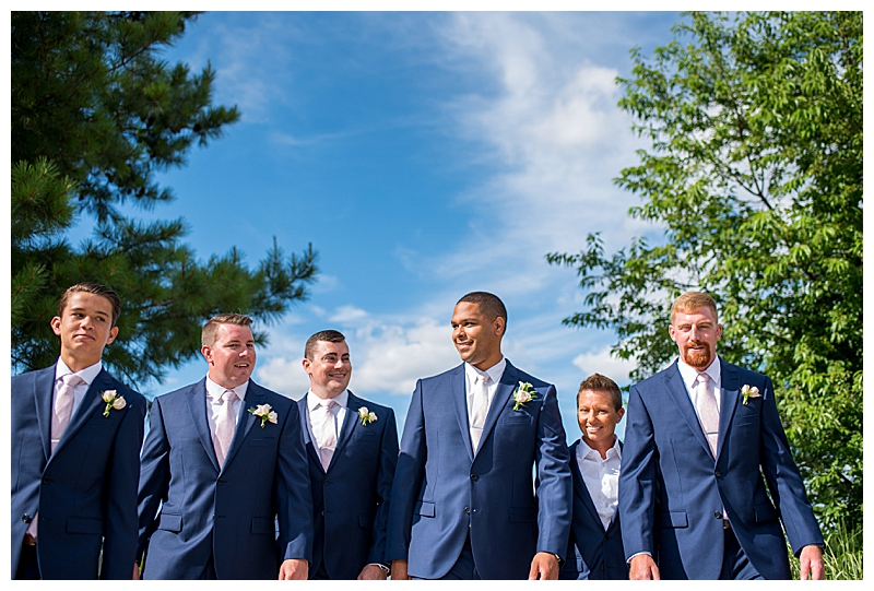 Navy Suit Wedding Party