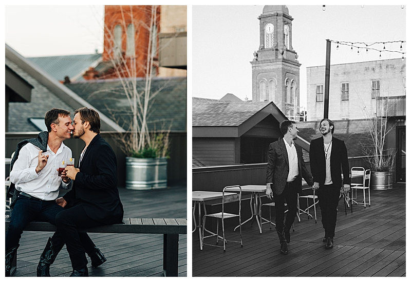 New Orleans Rooftop Engagement Shoot