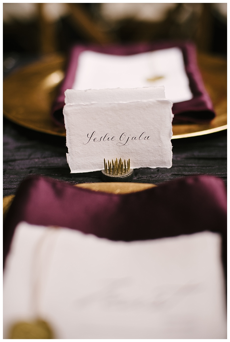 Raw Edge Place Cards for Weddings