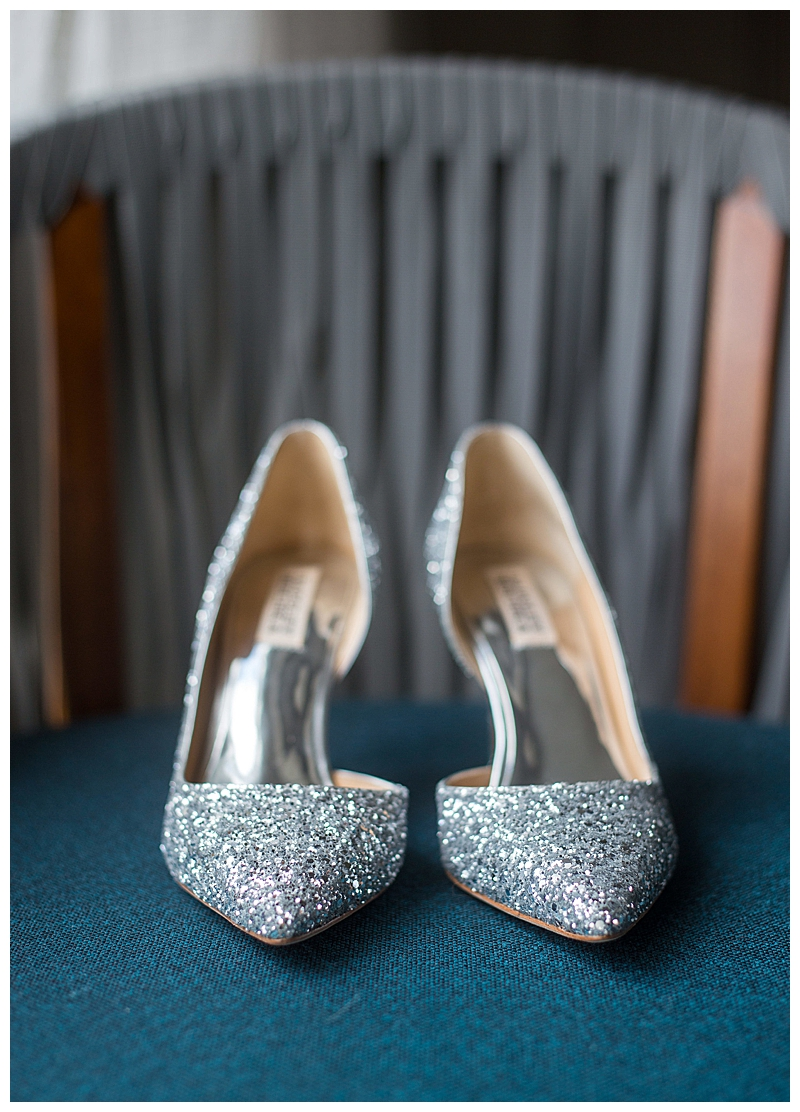 Silver Glitter Bridal Shoes