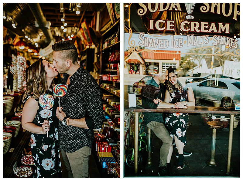 Soda Shop Engagement Photography