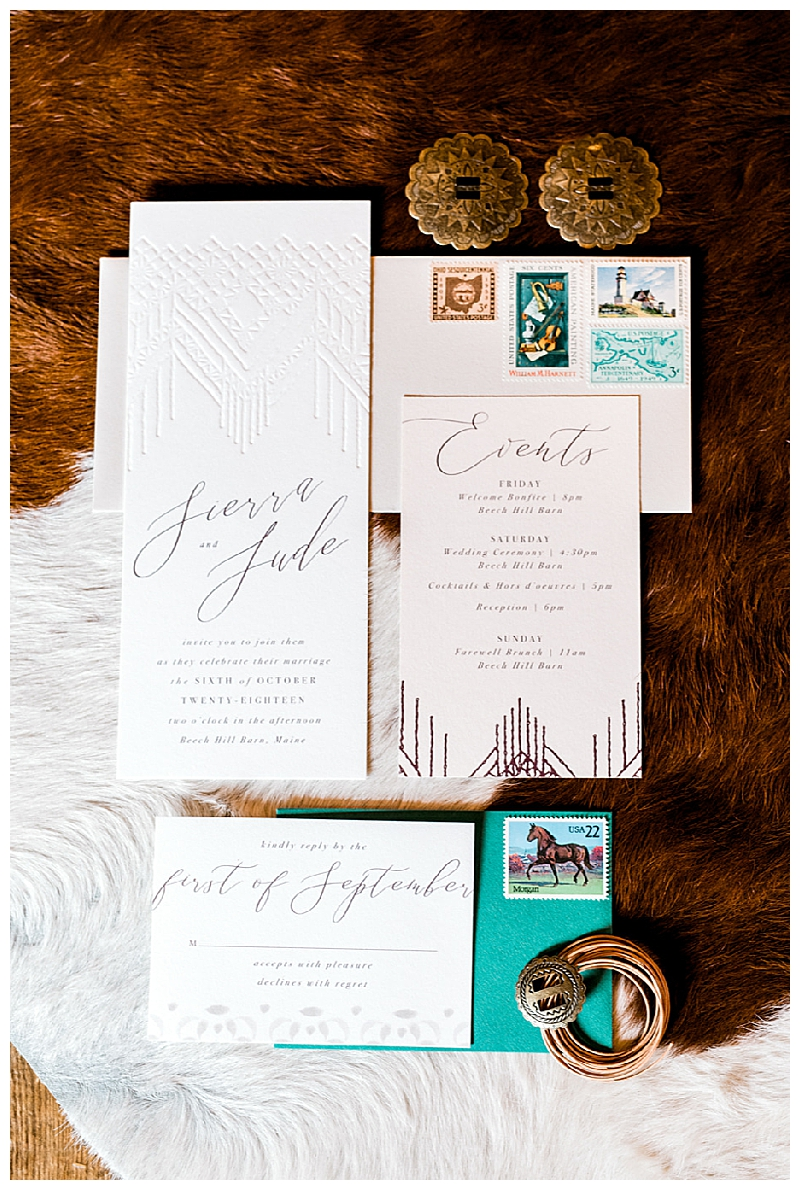 Southwest Bohemian Wedding Invitation