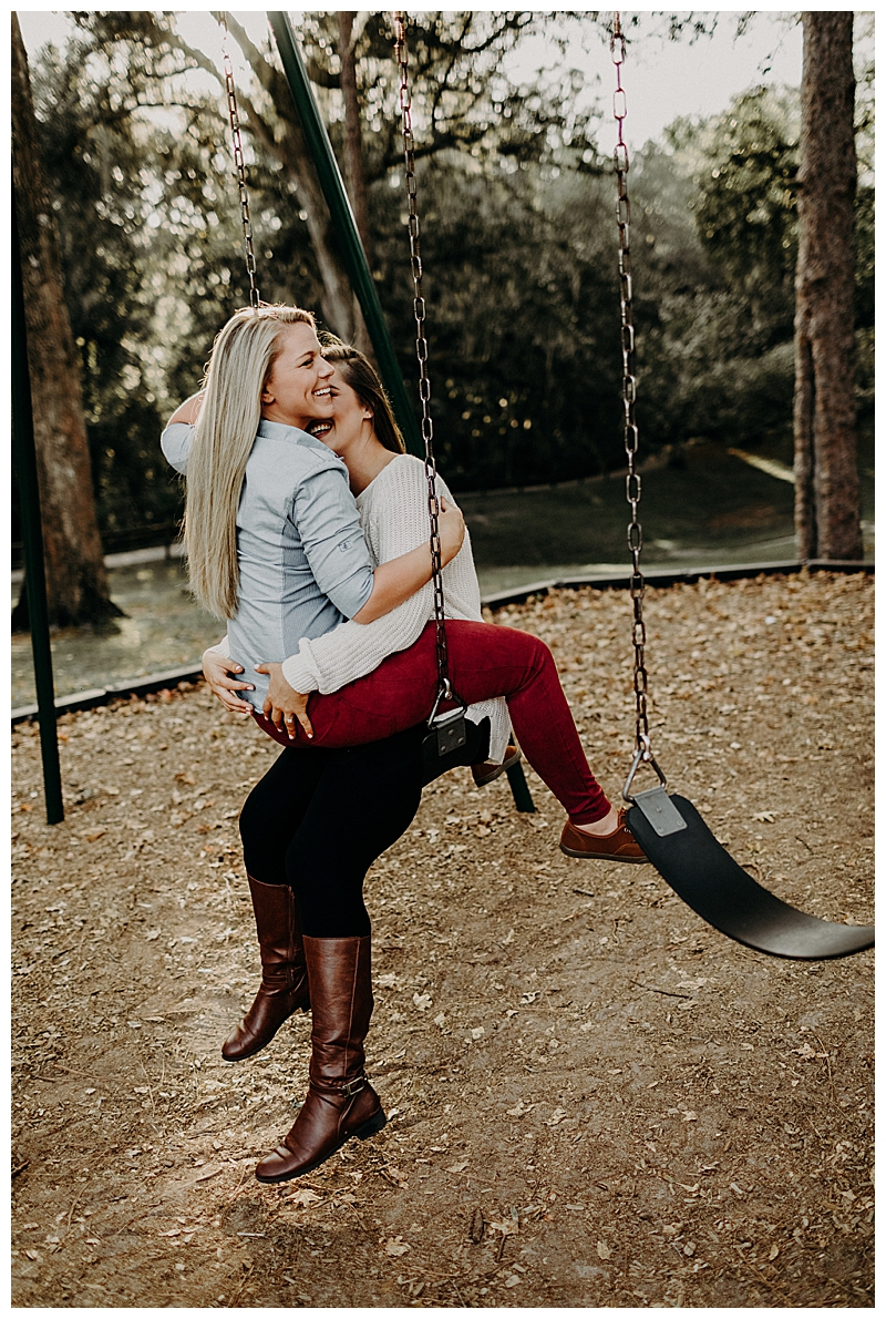 Swing Engagement Shoot Poses