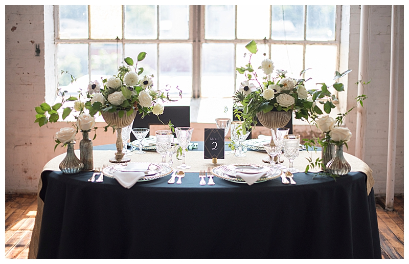 White and Green Vintage Tablescape with Mercury Glass