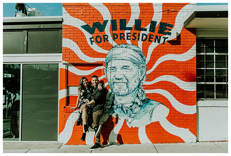 Willie for President Street Art in Austin