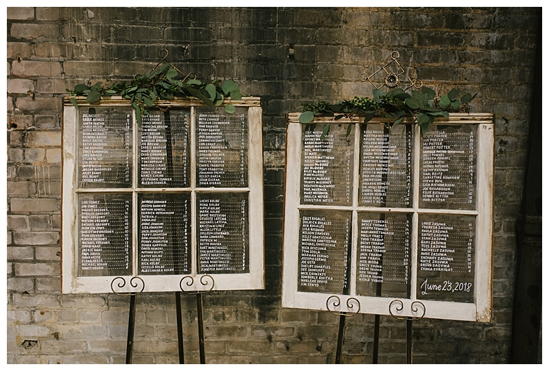 Window Panel Escort Card Display