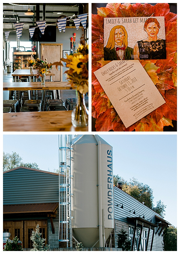Brewery Fall Wedding