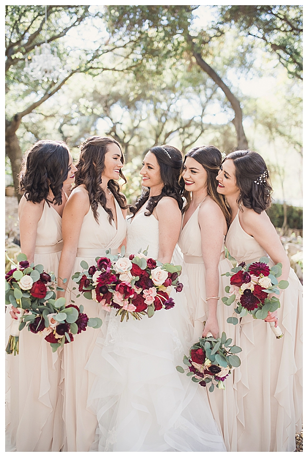 Champagne-Colored Bridesmaid Dresses