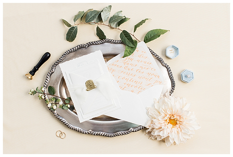 Elegant Wedding Invitation Flatlay