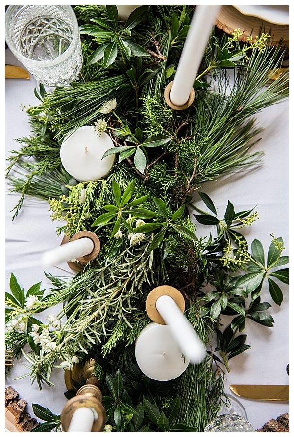 Evergreen Floral Runner