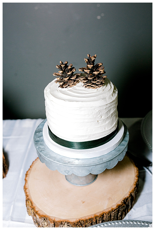Fall Wedding Cake with Acorn Topper