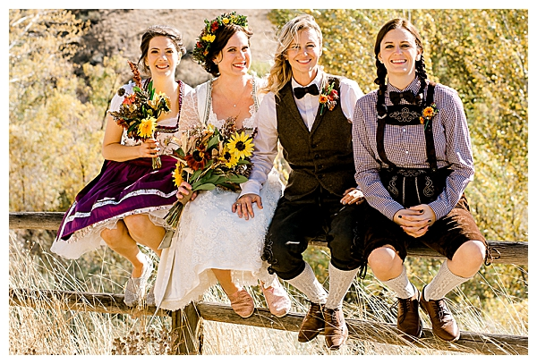 Oktoberfest-Themed Wedding Attire