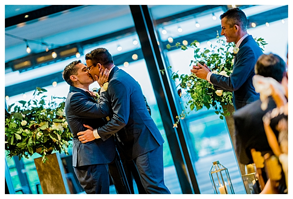 Grooms Kiss Wedding Ceremony