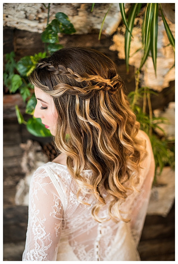 Half Updo Bridal Hairstyle