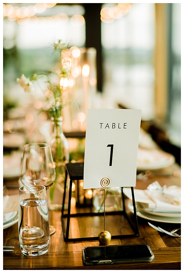 Masculine Table Numbers Wedding Design