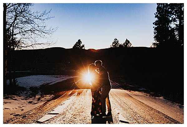Nature Engagement Shoot at Golden Hour in Colorado