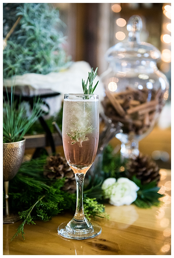 Rustic Winter Wedding Cocktail