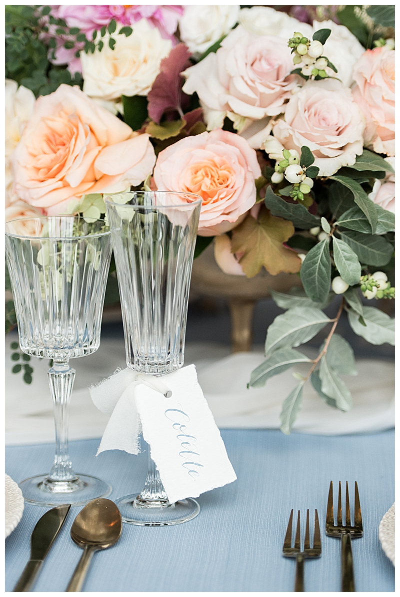 Soft Blue Wedding Table Linen