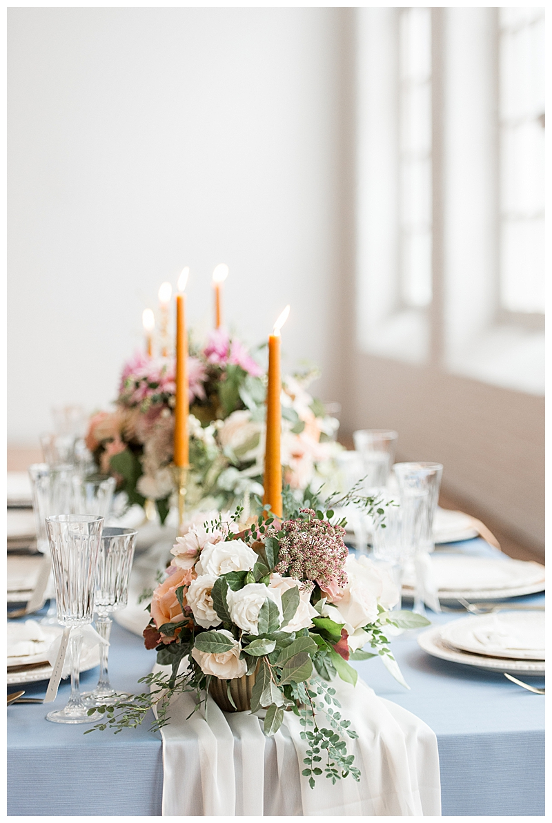 Soft Blue Wedding Tablescape