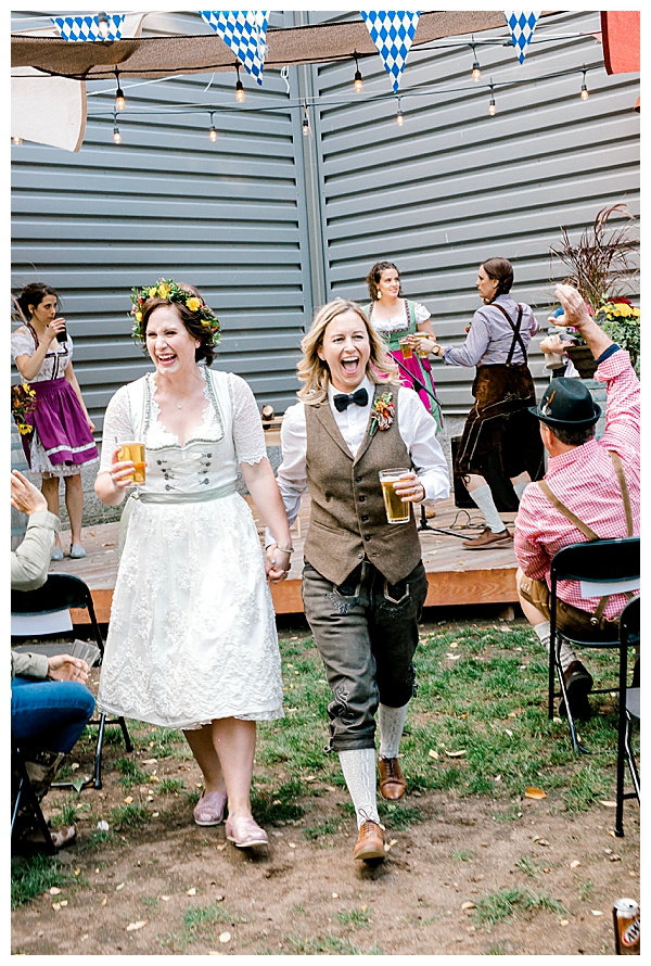 Wedding Ceremony Recessional with Beer