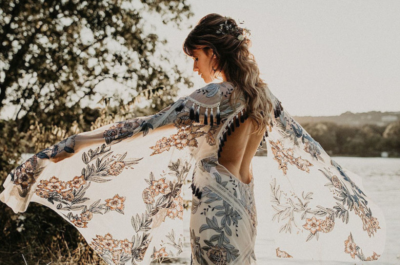 Image for Dreamy Boho Wedding Inspo from Texas (You HAVE to See This Dress!)
