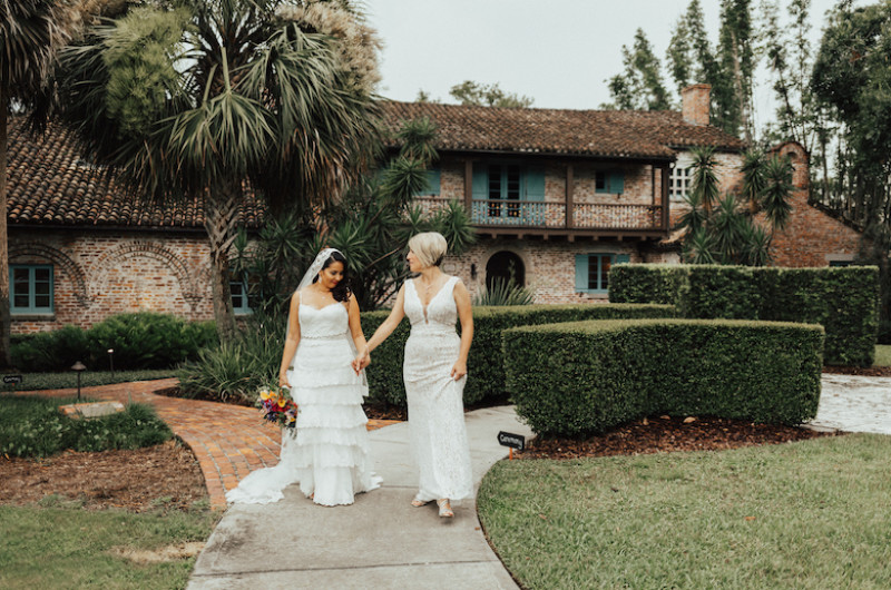 Image for Bold Colors and Geometric Details Have Us Swooning Over This Florida Spanish Farmhouse Wedding