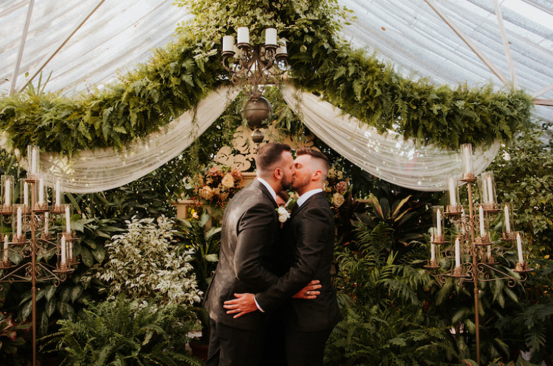 Image for An Intimate Greenhouse Wedding in St. Louis