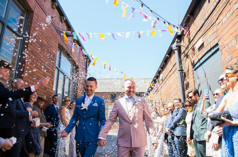 Image for These Grooms Had the Best of Both Worlds with Two Weddings