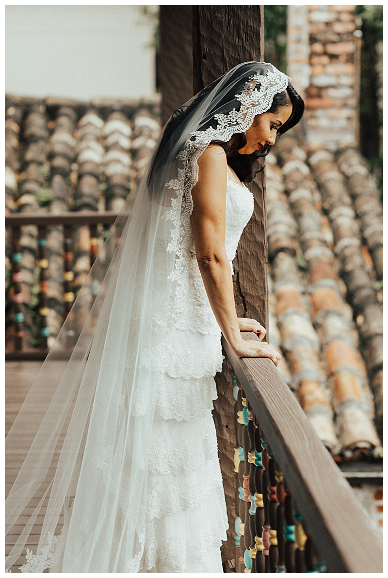 mantilla-veil-with-tiered-wedding-dress