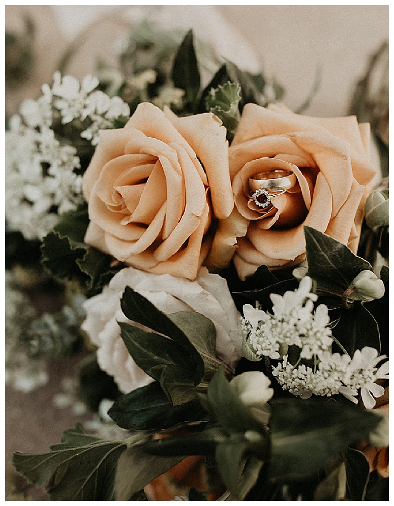 Peach Roses Bridal Bouquet