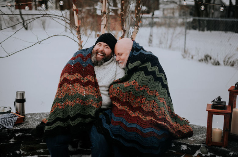 Image for This Snowy Engagement Session Will Instantly Warm Your Heart