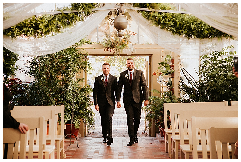 St. Louis Conservatory Greenhouse Gay Wedding
