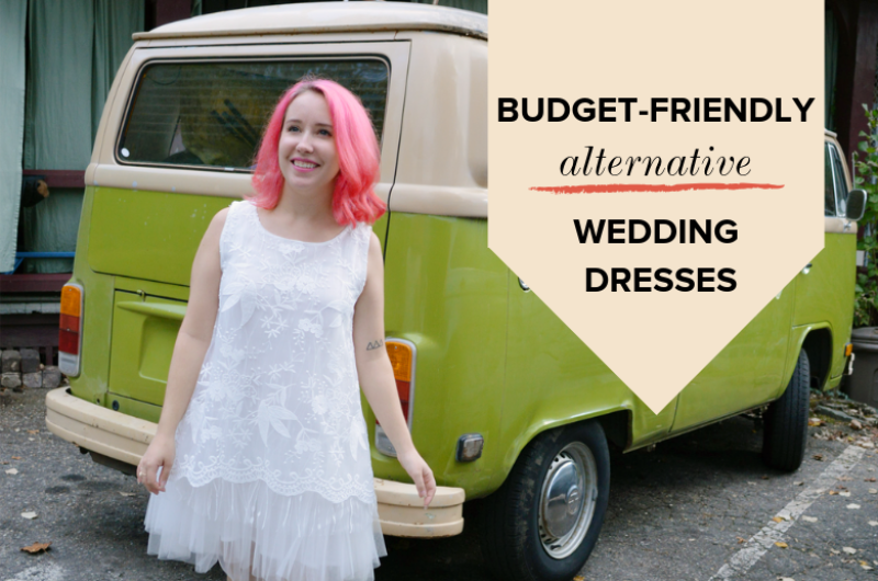 Image for Budget-Friendly, Alternative Wedding Dress Styles That Rock Our World