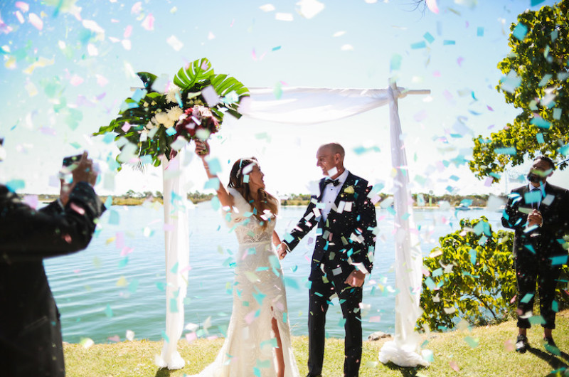 Image for Lunchtime Wedding Followed by Romantic Portraits on a Private Beach in Australia